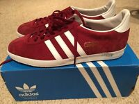 ADIDAS Gazelle Mens Size 10 Burgundy BRAND NEW IN BOX