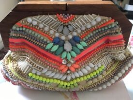 Ladies embellished clutch bag