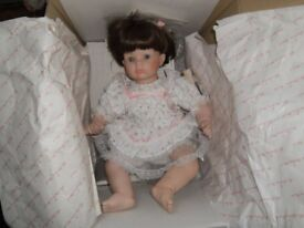 """Danbury Mint collection """"Jessica"""" porcelain doll by Susan Walkeen"""