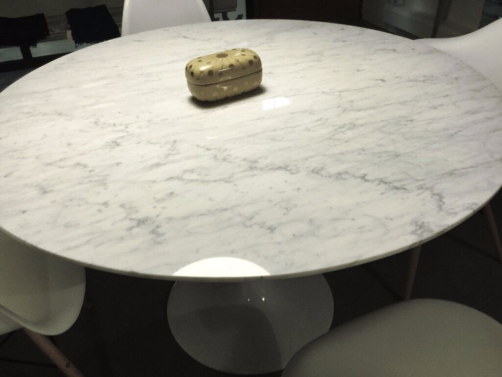 Like New Eero Marble Dining Meetin Table No Chips Cracks Stain - Eames marble table