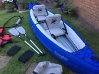 Canoe Sevylor SC320 inflatable canoe 2 person