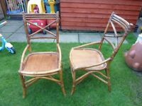 2x Bamboo chairs.