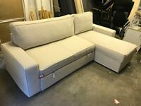IKEA VILASUND BEIGE CORNER SOFA BED WITH NEW COVERS STRAIGHT OUT OF THE BOX CAN DELIVER RRP £775