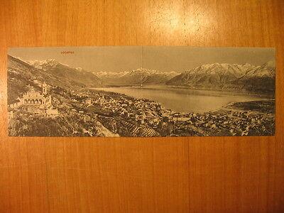 ~1910 AK Locarno Klappkarte Doppelkarte Panoramakarte