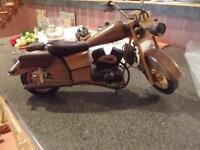 wooden  carved  motercycle