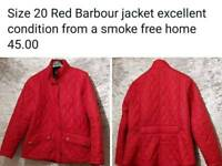 Barbour jacket size 20