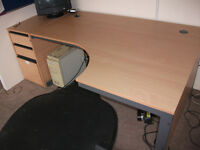 Used Office furniture 2 Desks 2 Filing Cabinets 2 Chairs
