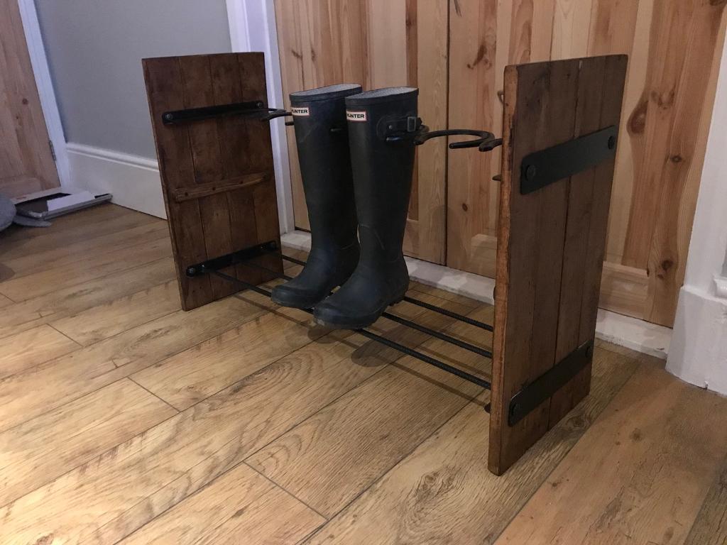 Horse shoe boot rack bespoke shabby equestrian