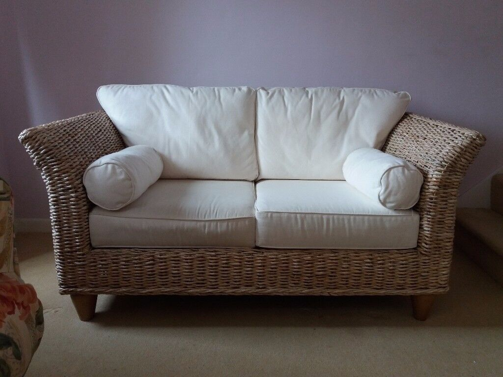 2 seater banana leaf sofa with matching chair