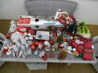 3ft Xmas Tree and large assortment of Xmas decorations