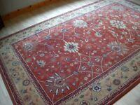 John Lewis - Royal Keshen Large Pure Wool Rug Terracotta Hand Made AGRA Carved pattern (3m x 2m))