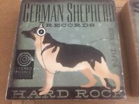 3 x Dog Canvas burlap wall art by Dogs Rock German Shepherd, Siberian and Rottweiler