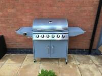 6 burner BBQ with additional side burner - assembled and NEW