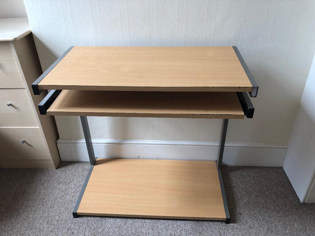 Computer Desk With Sliding Keyboard Shelf
