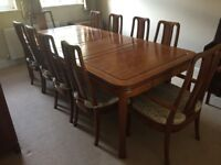 Rosewood Dining Set with Sideboard
