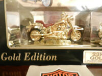 Harley Davidson Mint Boxed 23K Gold Edition 1986 FLST Heritage Softail Evolution Model