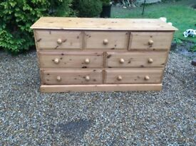 Solid Pine Chest of Draws 7 Draws