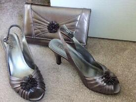 Lotus shoes & clutch bag
