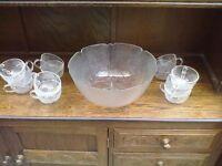 Aspen punch bowl set UNUSED BUT NO BOX