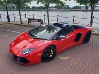 Wedding Car Hire Manchester | Lamborghini Aventador Roadster Hire Manchester | Chauffeur Hire | PROM