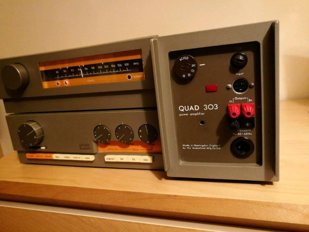 Quad 33 pre amp + quad 303 power amp + quad tuner amplifier vintage classic  rare | in St Annes, Bristol | Gumtree