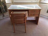 Bamboo desk & chair