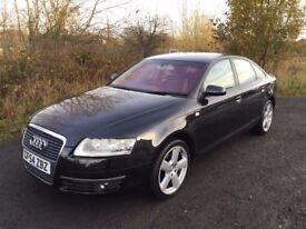 Audi A6 2.0 TDi 2005 *54**12 MONTHS MOT**Sat Nav**Black Leather**S-Line Alloys**45MPG!