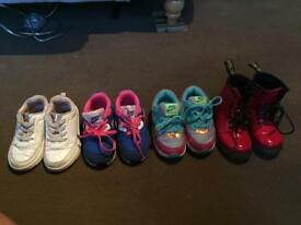 Bundle of girls kids junior shoes size 7