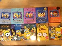 The Simpsons boxsets seasons 1 to 10