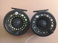 Pair of Shakespeare Omni fly reels with lines
