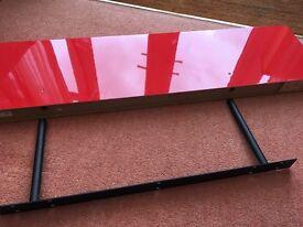 Ikea 'LACK' High Gloss Floating Shelf with Bracket