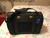 PET CARRIER FOR SMALL DOG-BLACK QUILTED
