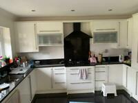 White Gloss Wren kitchen / good condition