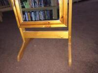 Pine swivel mirror free standing