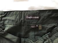 "Mens Craghopper hiking trekking & camping pants. 30"" waist"