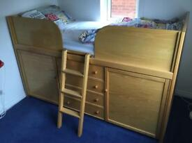 Captains bed and matching wardrobe