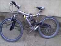 Mens after shock saxon full suspension mountain bike with 24 gears