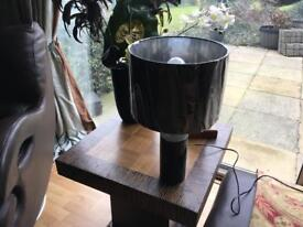 Small Black/Silver Lamp