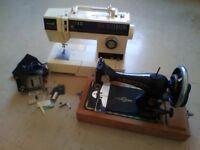 Two Singer Sewing Machines, Serenade 10 & Vintage