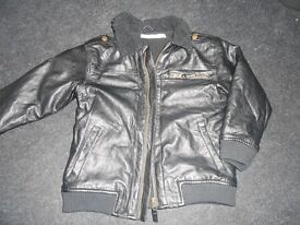 H&M kids faux leather jacket, 5 years, worn once