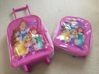 Disney Princess suitcase and backpack