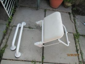 Disability Shower Seat and 2 Handles