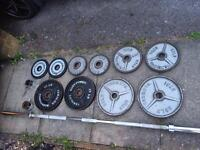 125kg olympic weights set