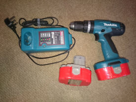 Makita 18v Drill, Spare battery and charger