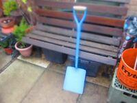 Heavy duty steel shaft Blue shovel