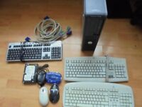 DELL OPTIPLEX DESKTOP PC COMPUTER AS PARTS AND SOME ACCESORIES JOBLOT