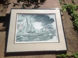 Simon Winch limited edition print (racing in a fresh wind 15/80)