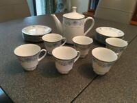 19 Piece Tea Service Fine China by Noritake (Sri Lanka) Blue Hill – Never Used. Collect Only
