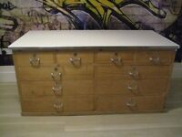 Industrial drawer chest - old - lots of storage space £300.-