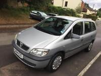 Vauxhall zafira 1.6 2004 model 7 seater new mot only 2 owners
